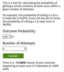 RNG Calculator Example